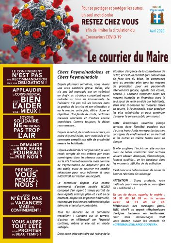 Courrier du Maire avril 2020