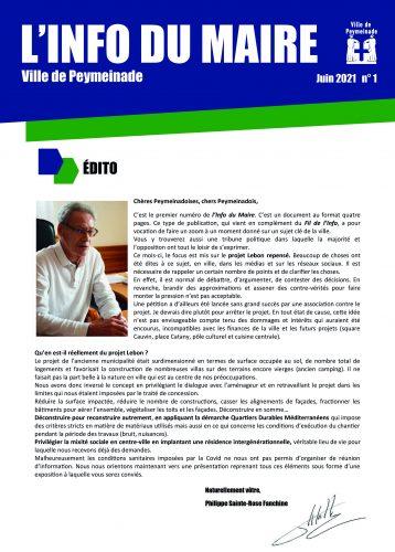 L'Info du Maire n°1
